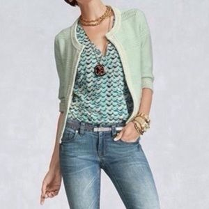 Cabi Mint Green Society Sweater Cardigan